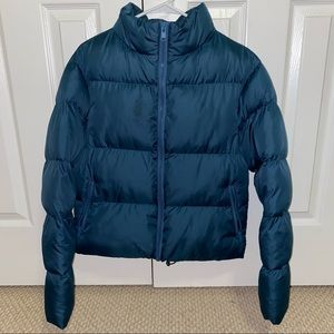 Cropped Length Puffer Jacket